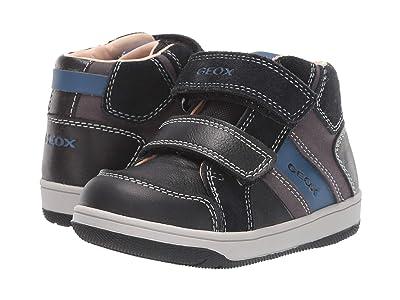 Geox Kids Newflick 12 (Toddler) (Black Light/Black) Boys Shoes