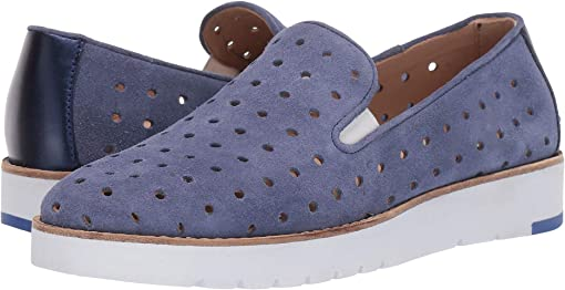 Blue Oiled Suede