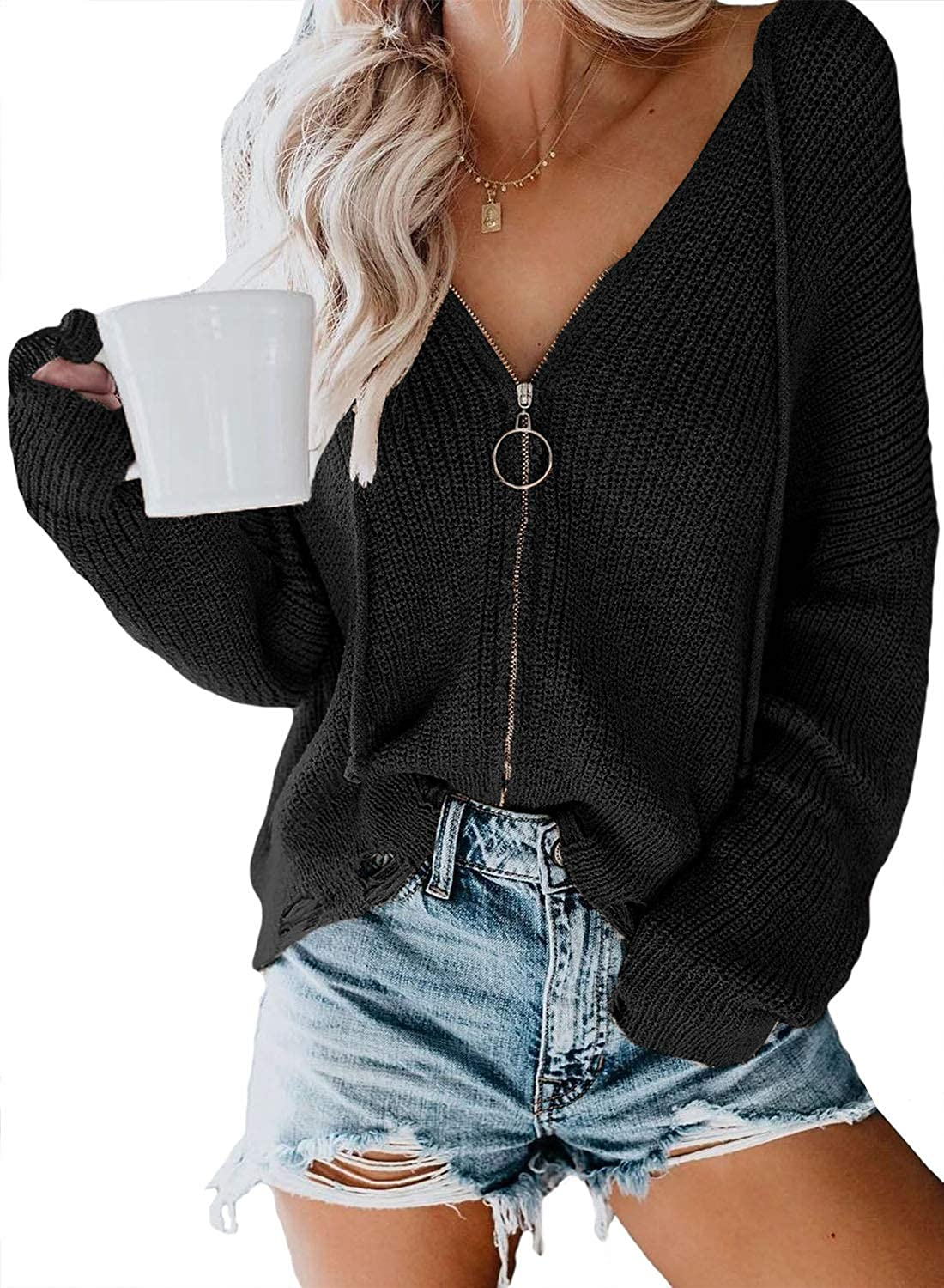 Asvivid Long Sleeve Open Front Cardigans for Women Lightweight Casual Loose Soft Knit Sweater Cardigan Outwear Coat