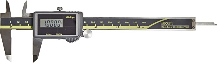 Mitutoyo 500-474 Digital Calipers, Solar Powered, Inch/Metric, for Inside, Outside and..