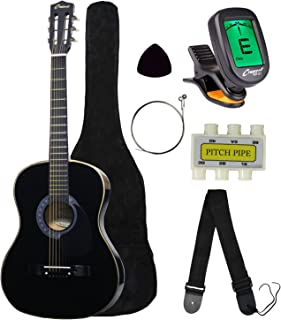 "Crescent MG38-BK 38"" Acoustic Guitar Starter Package, Black (Includes CrescentTM.."