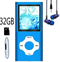 MP3 Player / MP4 Player, Hotechs MP3 Music Player with 32GB Memory SD Card Slim Classic Digital LCD 1.82'' Screen Mini USB Port with FM Radio, Voice Record