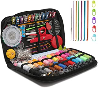 Professional Sewing Kit, Segarty 282 Mending Supplies with Accessories - 22pcs Crochet Hooks,Colors of Thread,Needles, Bas...