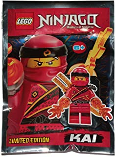 Booster Bricks Lego Ninjago Rare Limited Edition Kai Minifigure - New Sealed Foil Pack Minifig Ninja red