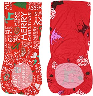 Tomaibaby 2 Piezas Funda de Silla Elástica Todo Incluido Funda Trasera de La Silla Exquisita Cubierta de Patrón de Letras de Copos de Nieve para La Decoración del Hogar de Navidad