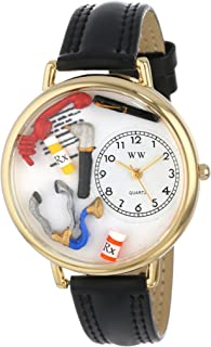Whimsical Watches Unisex G0620018 Doctor Black Leather Watch