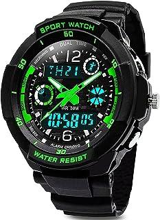 Digitale orologi per bambini ragazzi - 50 m impermeabile sport all' aria aperta orologio analogico con allarme/timer/Dual ...
