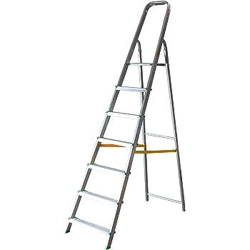Escalera Tijera Plegable 7 Peldaños en Aluminio. Escadote 7 degraus. Hecho en Europa. BTF-TJL107: Amazon.es: Bricolaje y herramientas
