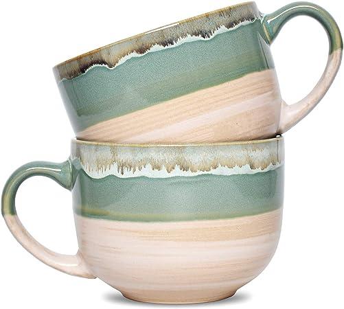Bosmarlin Jumbo Latte Mugs for Office and Home