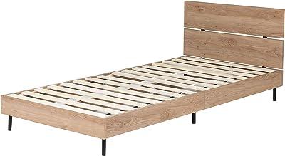 Lynd(リンド) ベッド 海外風 ベッドフレーム シングル シンプル すのこ 木製 スチール脚 おしゃれ ベッド下 ペールナチュラル PNA
