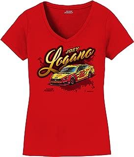 Ladies Joey Logano 2019 Shell Pennzoil Car NASCAR T-Shirt