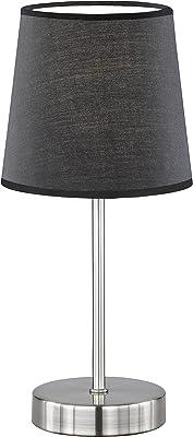 Action by WOFI Cesena 1-Bulb Table Lamp Diameter Approx. 14cm Height Approx. 32 cm Classic Schirm (Matt): Schwarz