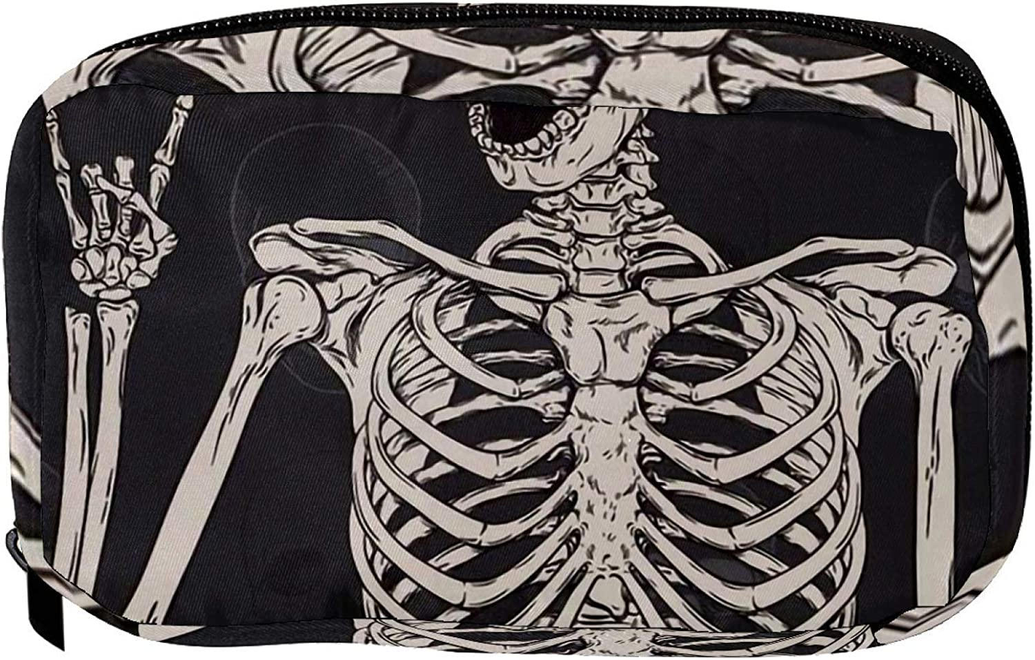 Cosmetic Bag Raleigh Mall for Women Roomy Makeup Animer and price revision human skeleton Tr Bags skull