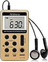 Retekess V112 AM FM Radio Portable Mini Radio with Earphone Pocket Digital Tuning..