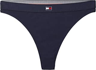 Tommy Hilfiger womens UW0UW01055 Tommy Hilfiger Thong for Women - Navy Blue
