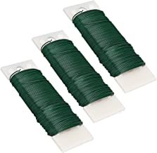 Livder 3 Pack 114 Yards 22 Gauge Green Flexible Paddle Wire for Crafts, Christmas Wreaths Tree, Garland and Floral Flower ...