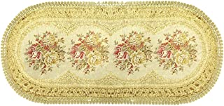 Wrapables Vintage Floral Table Runner with Gold Embroidery, 28.5 by 13-Inch, Imperial Gold