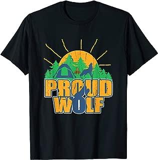 Proud Wolf Scout Cub Camping Boy Hiking Scouting Den Gift T-Shirt