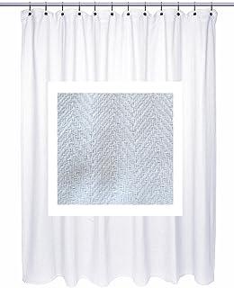Chevron Weave 100 Cotton Shower Curtain