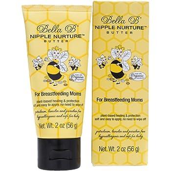 Bella B Nurturing Nipple Butter 2 oz - Organic Nipple Cream For Breastfeeding - Natural Nipplecreams For Breastfeeding - Breastfeeding Nipple Cream - Nipple Cream For Breastfeeding Organic