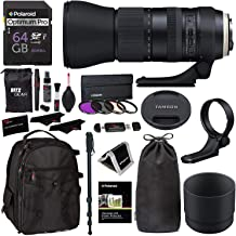 Tamron AFA022C700 SP 150-600mm Di VC USD G2 f/5.6-40.0 Telephoto Zoom for Canon A022, Filter Set, Ritz Gear Backpack, 64GB & Accessory Bundle