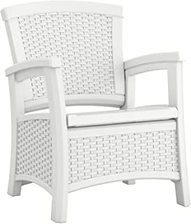 Suncast FBA_BMCC1800W Outdoor Chair, White