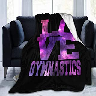 Love Gymnastics Ultra Soft Flannel Fleece All Season Light Weight Living Room/Bedroom Warm Blanket