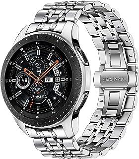 Shieranlee kompatibel med Galaxy Watch4 Classic 46 mm metallrem, 22 mm rostfritt stål metall klockarmband för Samsung Gala...