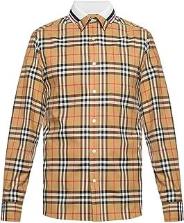 1914aa8b96024 BURBERRY Men's Vintage Check Edward Double Collar Cotton Long Sleeve Shirt