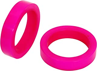 Worldexplorer Handmade Wedding Party Decorations Vintage Colorful Napkin Rings Set for Dinner Ideas (Hot Pink, Pack of 12)