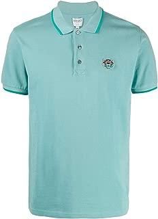 KENZO Luxury Fashion Mens F665PO0014BA60 Light Blue Polo Shirt |