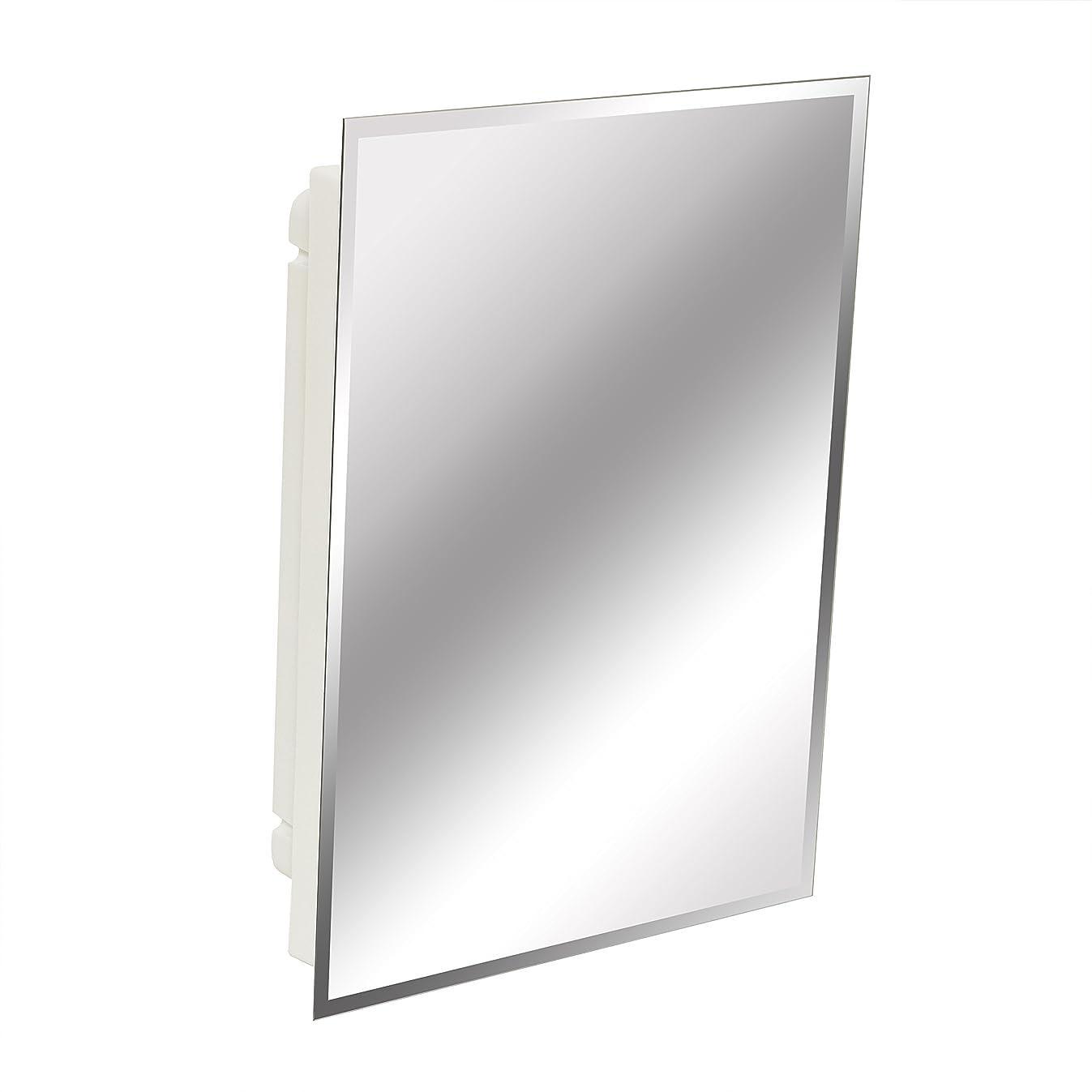 American Pride 9622WBAR12 – Recessed Frameless Beveled Polished Edge Mirror Medicine Cabinet 16