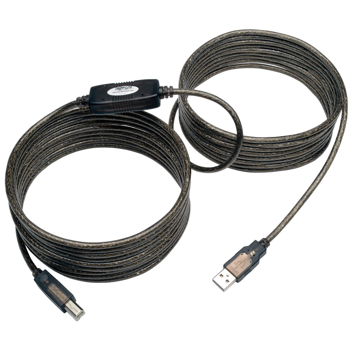 Tripp Lite Cable Repetidor Activo USB 2.0 de Alta Velocidad A/B (M/M), 7.62 m [25 pies] - Cable USB (7.62 m [25 pies], 8 m, USB A, USB B, 2.0, Male Connector/Male
