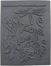 Christi Friesen (Style #649) - Crafting Supplies - Rubber Texture Stamp for Clay, Scrapbooking, Jewelry and Card Making - Mechanical Organically