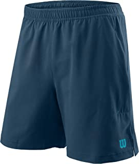 Wilson Men's Shorts, POWER TWIN 7 SHORT, Polyester, Blue (Majolica Blue), Size M, WRA778903MD
