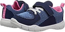 Navy Knitted/Nubuck PU