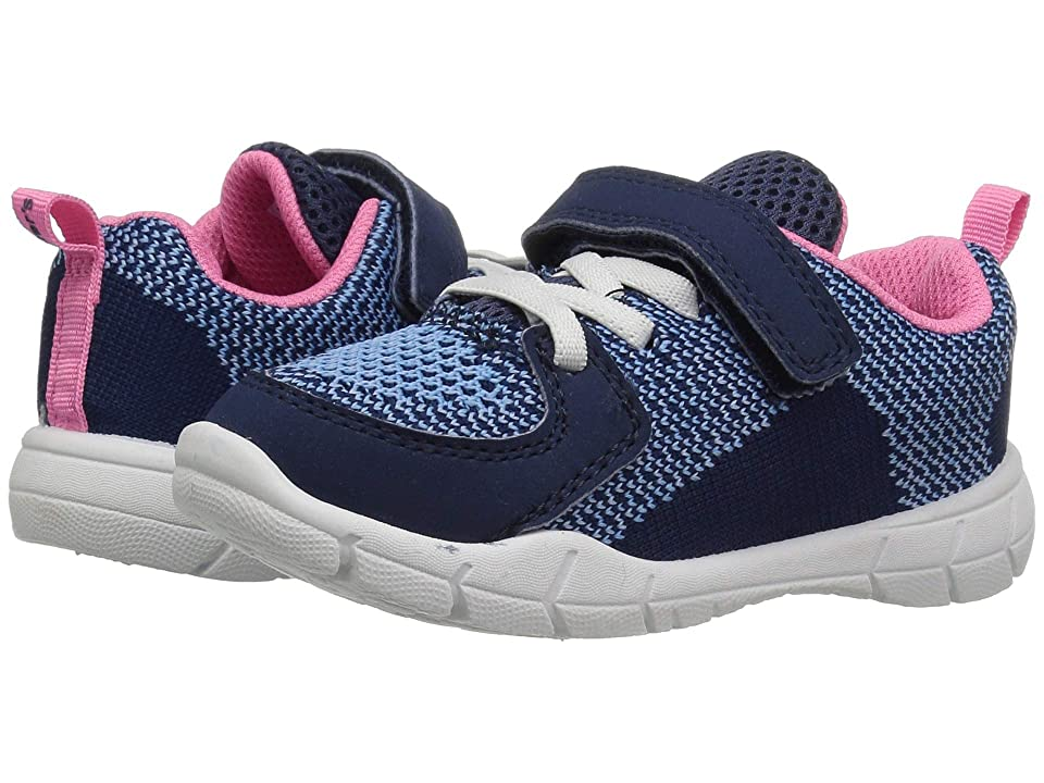 Carters Avion-G (Toddler/Little Kid) (Navy Knitted/Nubuck PU) Girl
