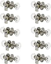 Probrico Hardware (10 Pack) Diamond Crystal Door Knobs, Keyless Knobs Privacy Function for Bed and Bath Doors, Classic Rou...