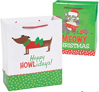 Christmas Cat & Dog Gift Bags - 12 ct