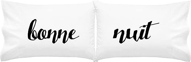Oh, Susannah Bonne Nuit Pillow Case Unique Pillows Funky Pillowcase Cool Pillows French (Bonne nuit Script)