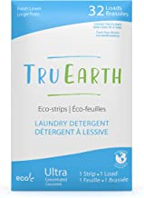 Tru Earth Hypoallergenic, Eco-friendly & Biodegradable Plastic-Free Laundry Detergent Eco-Strips for Sensitive Skin (32 Lo...