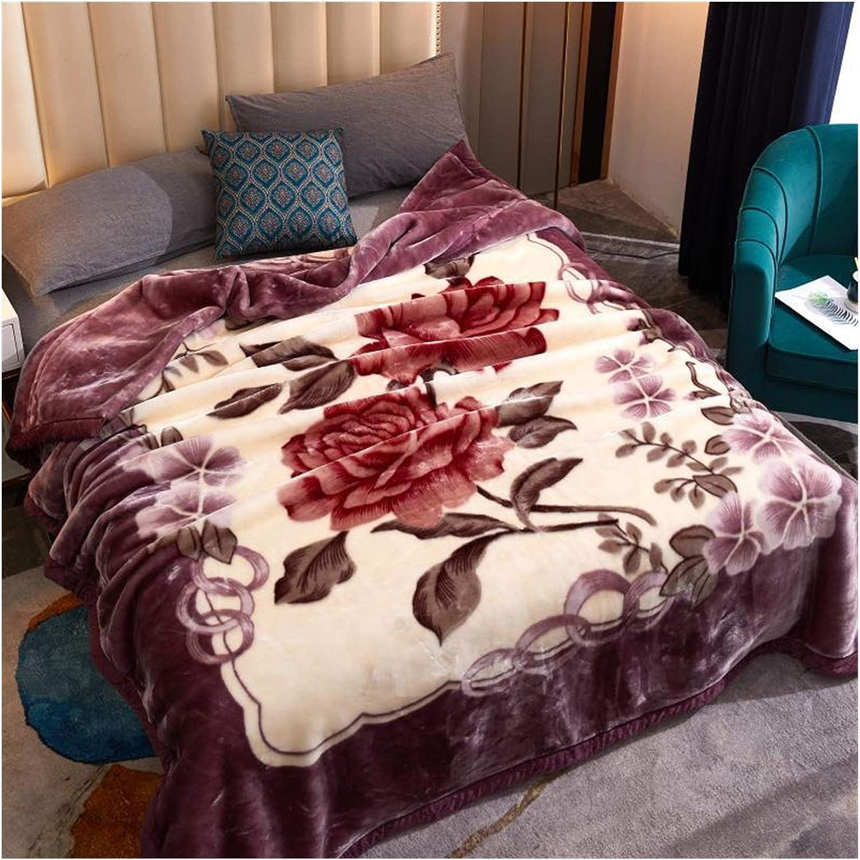 JDJD Double Layer Winter Ranking TOP16 Thicken Blanket Raschel Plush Weighted discount