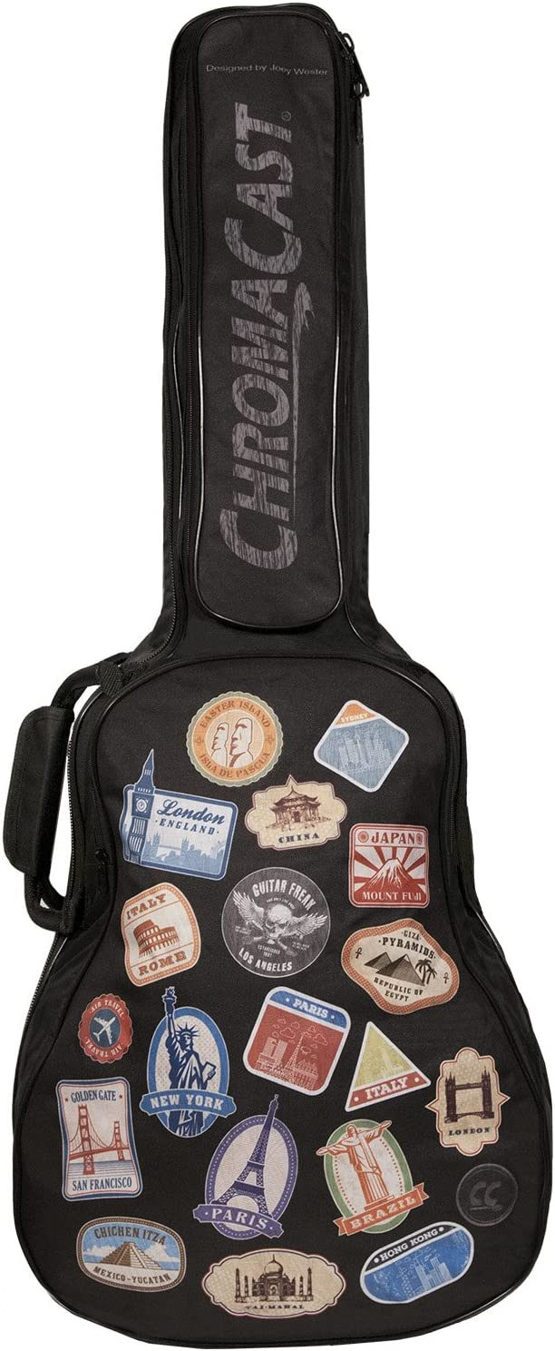 ChromaCast World Tour Graphic Two Nippon regular agency Padded Discount mail order Guitar Acoustic Pocket