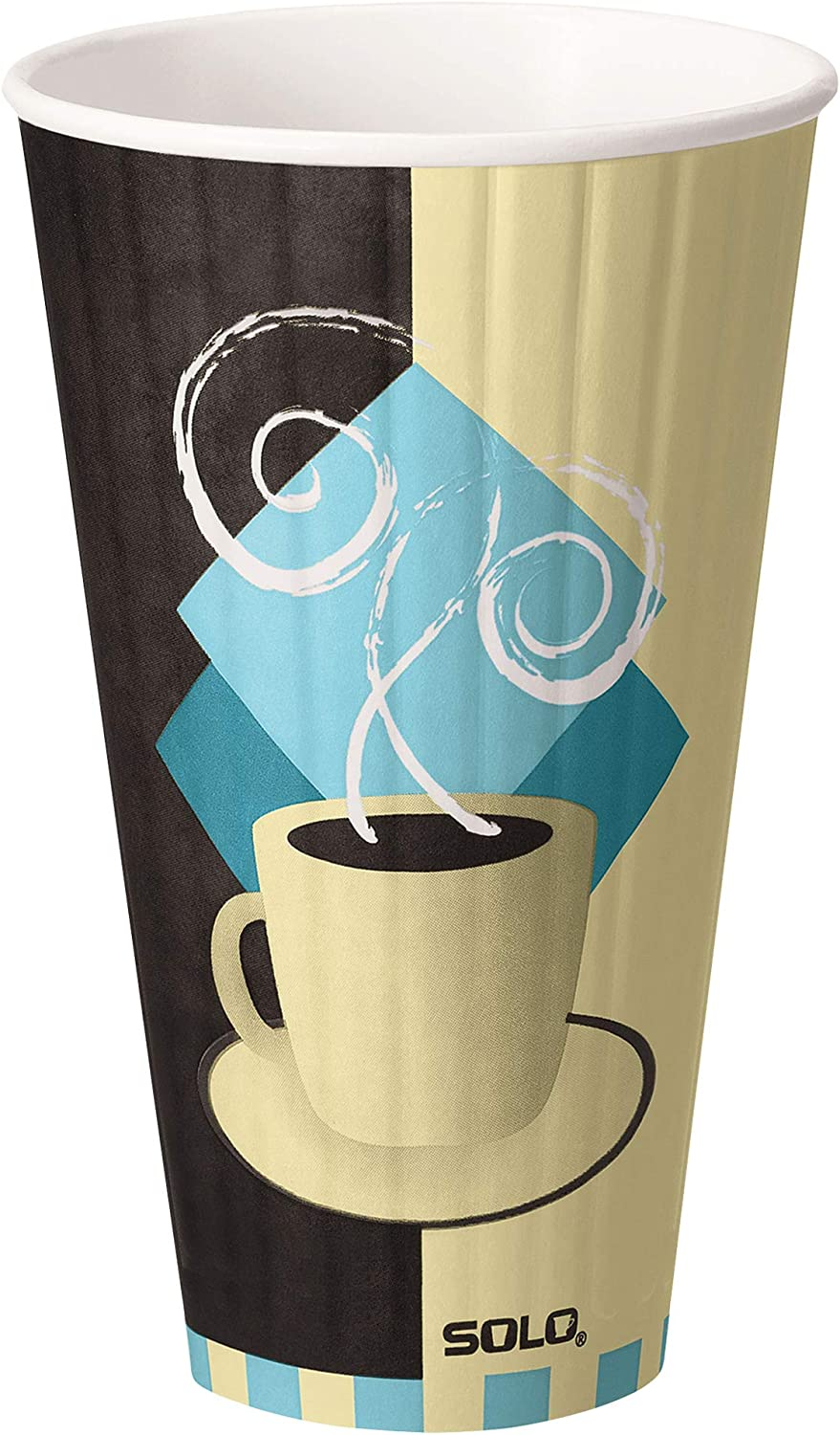 Solo IC24-J7534 24 oz Tuscan Cafe Duo Shield insulated Paper Hot Cup (Case of 500)