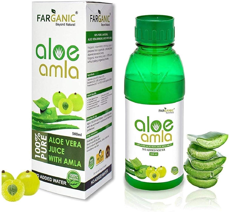 Bellentines Farganic Max 57% OFF Pure New color Amla + Aloe 50:50 Drinking Gel Ju Vera