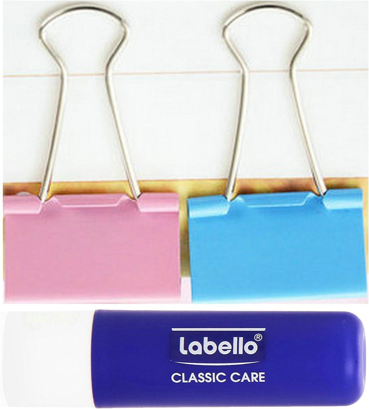per Ufficio Organizzare 10 x 32 mm - Colorato Clip Doppio Clip Multiuso in Metallo Foldback Clip Morsetti Clip di Carta Clip Cravatta Ufficio di Cancelleria Pinze
