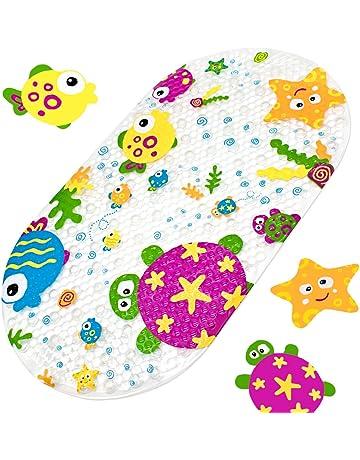 lavabile in lavatrice con ventose motivo stella marina per accessori da bagno Tappetino antiscivolo per vasca da bagno per bambini 39 x 69 cm Yolife stella marina