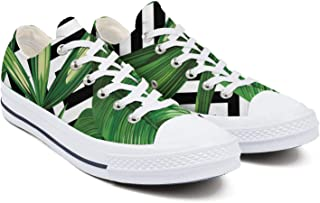 Mens Tropical Floral Banana Leaf Strelitzia Sneakers Style Hip Hop Latest Crazy Tennis Shoe