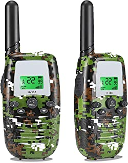 Toys for 3-12 Year Old Boys, Walkie Talkies for Kids Toys 22 Channels 2-Way Radio 3 Miles Range, Teen Boy Girl Best Birthday Gifts(Camo Green, 2 Pack)
