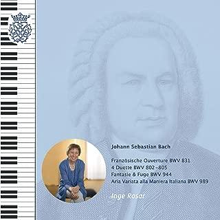 J. S. Bach: BWV 831, BWV 802 - 805, BWV 944, BWV 989